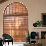arched wood blinds